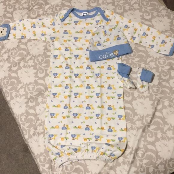 Pajamas | 3 Pc Baby Night Gown | Poshmark